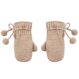 Rylee and Cru Oat Honeycomb Knit Mittens