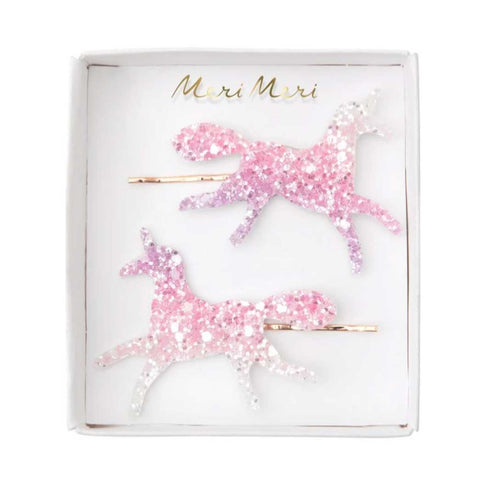 Meri Meri Unicorn Ombre Glitter Hair Slides