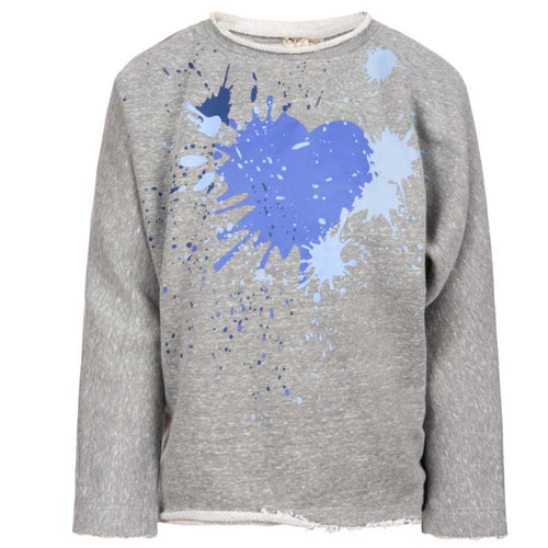 Appaman Paint Splash Heart  Slouchy Sweatshirt