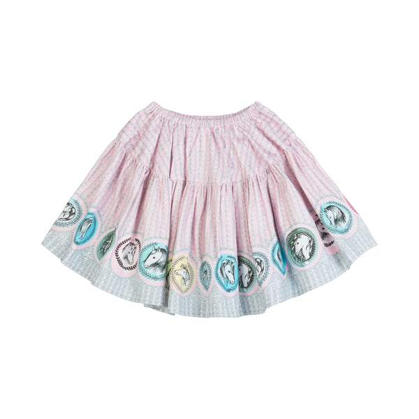 Back of Horse printed girls skirt by Paper Wings
