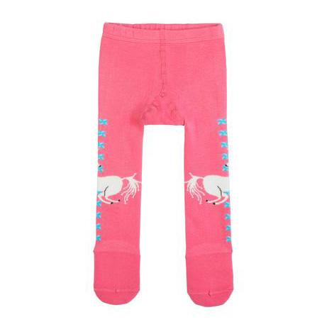 Girls pink unicorn tights