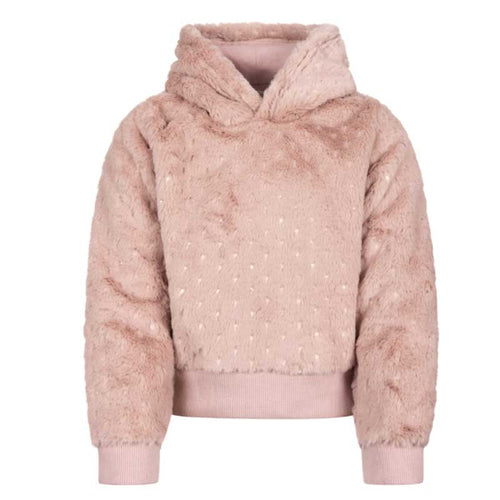 Appaman Pink Plush Girls Hooded Sweatshirt
