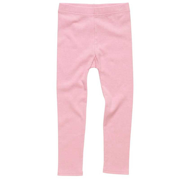 Rock Your Kid Pink Girls Ribbed Leggings