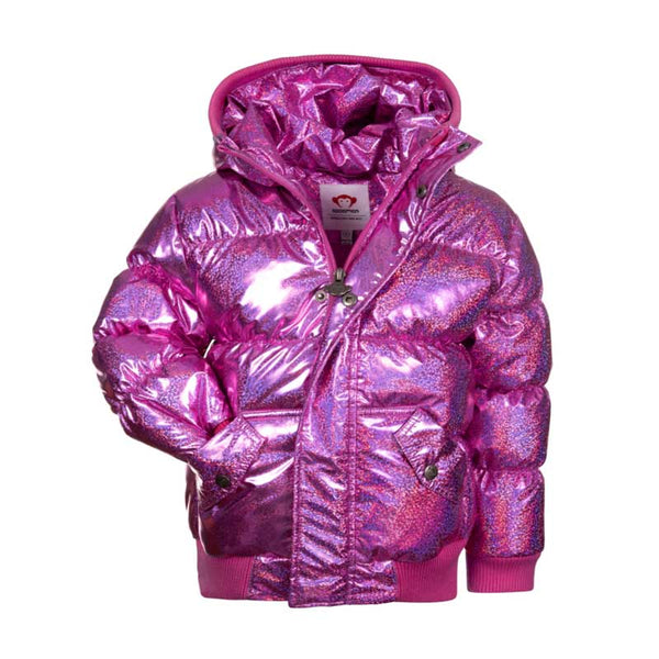 Appaman Puffy Girls' Coat - Sparkle Pink