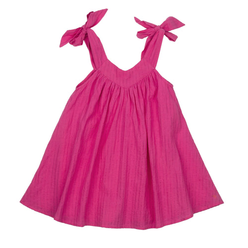 Pink chicken fuchsia sleeveless girls dress