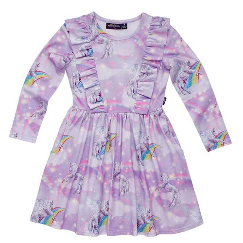 Rock Your Kid Purple Unicorn Frill Dress