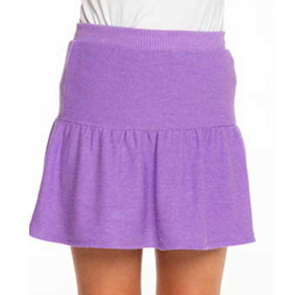 Chaser Electric Purple Cozy Knit Girls Skort