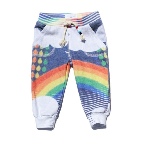 Rainbow printed baby sweat pants