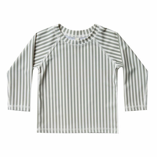 Rylee and cru olive stripe boys rash guard