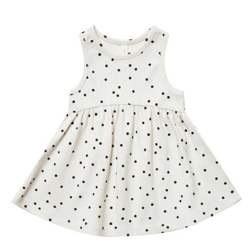 Baby girl dot knit sleeveless dress