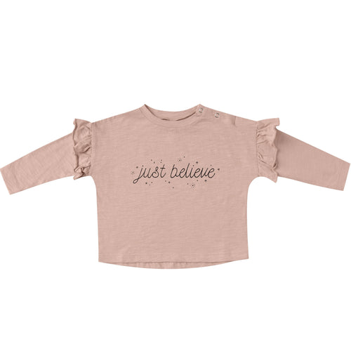 Rylee and Cru Just Believe Ruffle Girls Tee