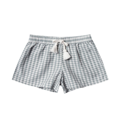 Rylee and cru blue gingham toddler and girls shorts
