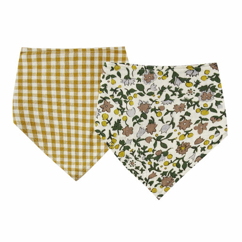 Rylee and Cru Goldenrod and Floral Neck Scarf Bib Set