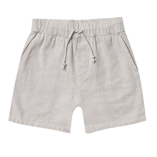 Rylee and cru grey drawstring linen boys shorts