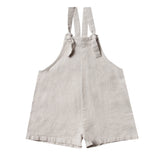 Rylee and cru grey linen girls short overalls