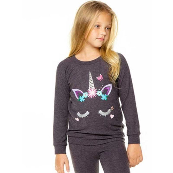 Chaser Sleeping Unicorn Love Knit Girls Pullover