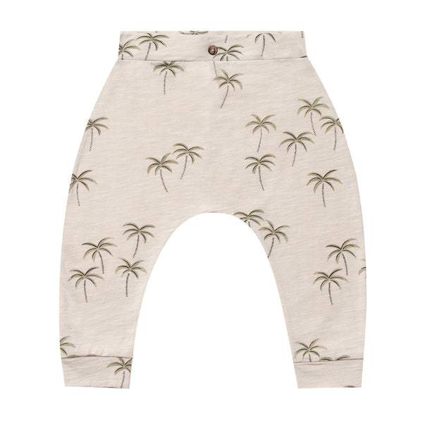 Rylee and cru palm tree print knit baby pants