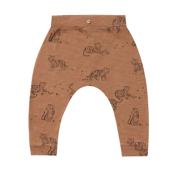 Rylee brown tiger print baby knit pants