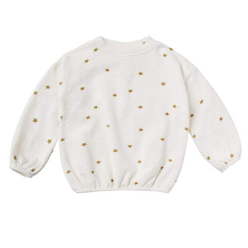 Rylee and Cru Natural Star Slouchy Girls Pullover