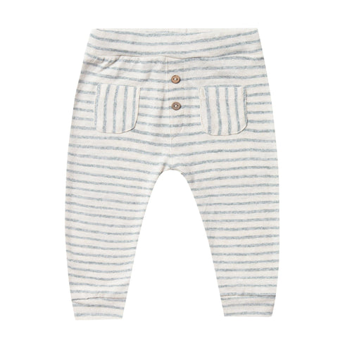 Rylee and cru blue and white stripe baby unisex summer pants