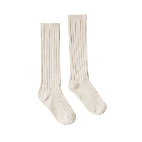 Rylee and cream ivory girls knee socks