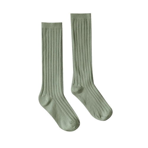 Rylee and cru olive green girls knee socks