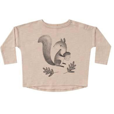 Rylee and Cru Squirrel Longsleeve Baby Tee