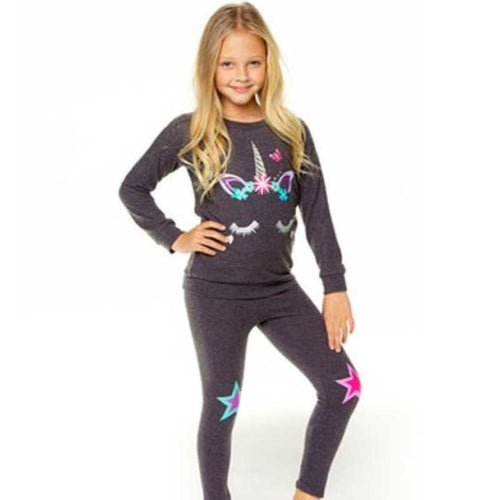 Chaser Star Love Knit Girls Leggings