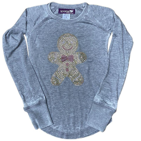 Sparkle by Stoopher Gingerbread Gems Girls Tee