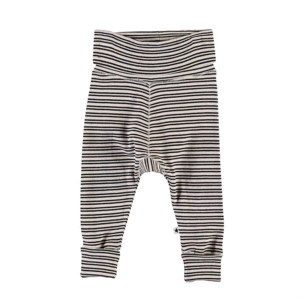 Molo Blossom Black Stripe Baby Girl Pants