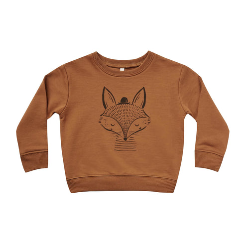 Rylee and cru brown fox kids sweatshirt