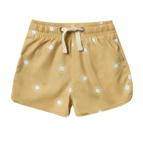 Rylee and cru yellow sunshine baby boy swim trunks