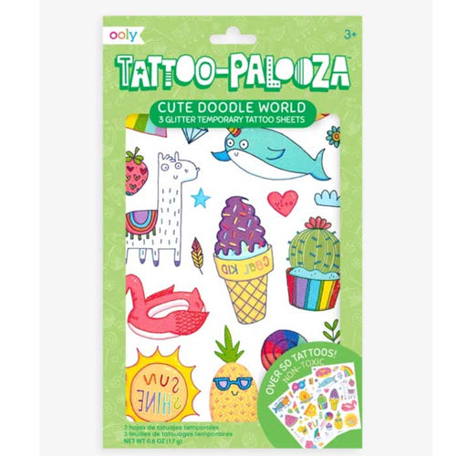 Ooly Tattoo Palooza Temporary Tattoo - Cute Doodle World