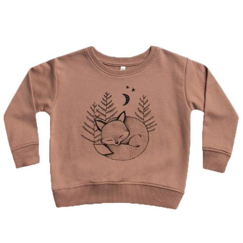 Rylee and cru brown long sleeve fox sweatshirt