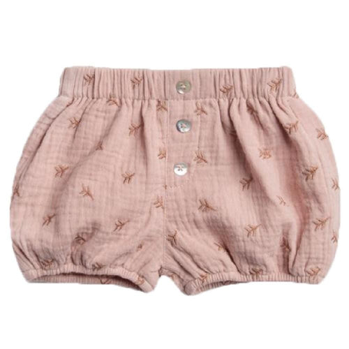 Rylee and cru pink embroidered baby girl shorts