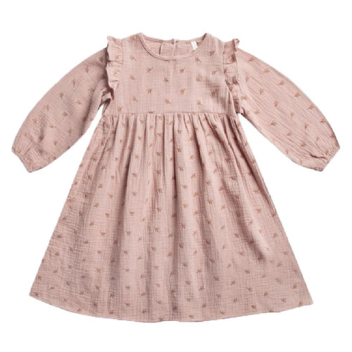 Rylee and Cru pink embroidered girls dress