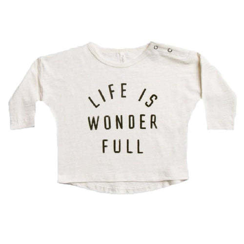 Rylee and Cru cream long sleeve kids graphic tee