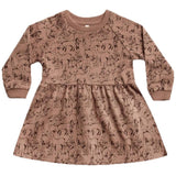 Rylee and cru woodland animal knit girls dress