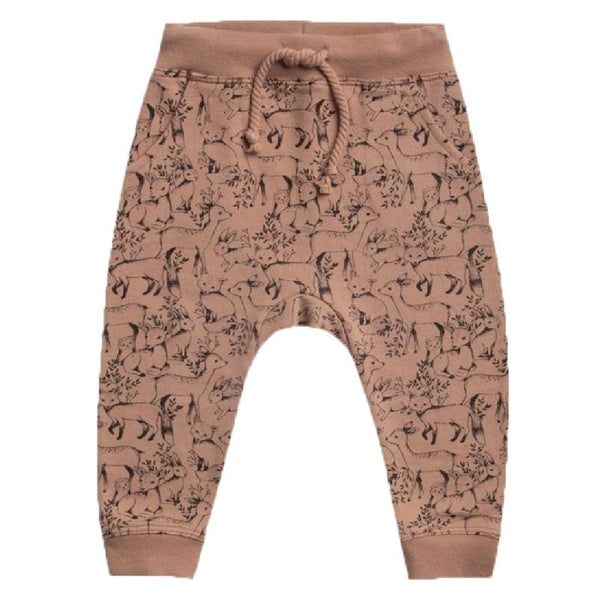 Rylee and Cru woodland print kids sweatpants