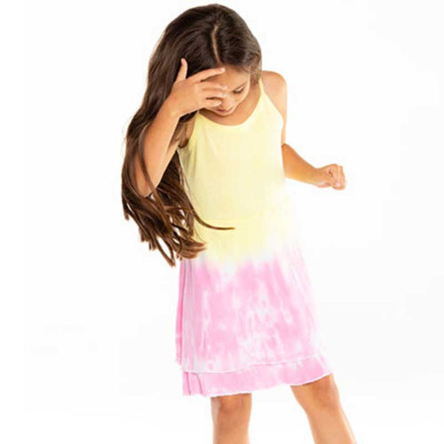 Chaser Dip Dye Ribbed Cami Girls Dress