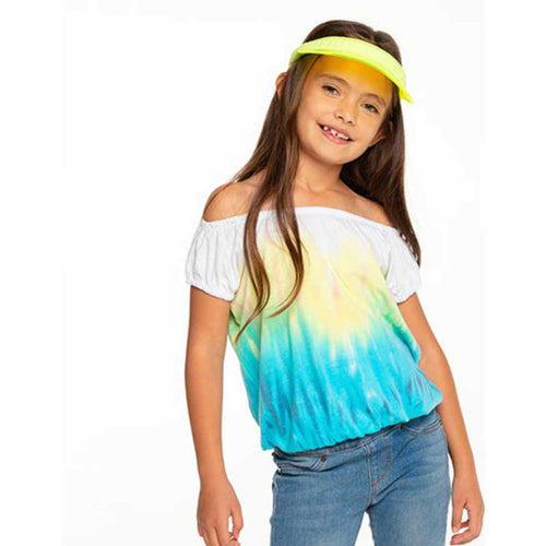 Chaser Tie Dye Off The Shoulder Girls Tee