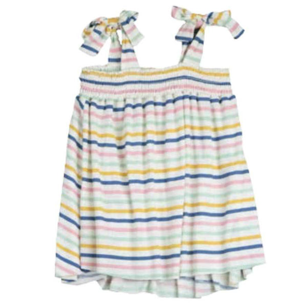 T2Love striped tween girl tank top with tie straps