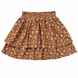 Rylee and cru brown floral tiered girls skirt