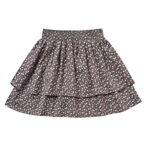 Rylee and Cru Washed Indigo Ditsy Tiered Girls Skirt
