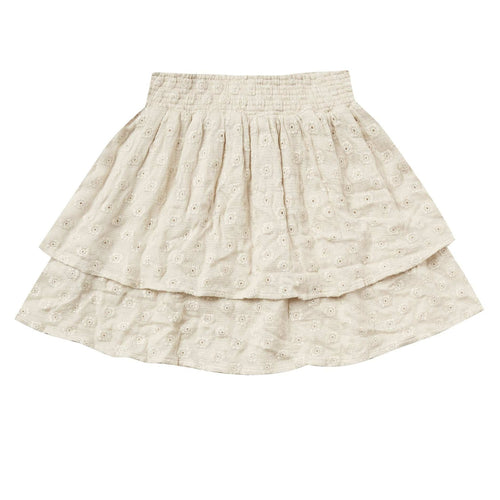 Rylee and Cru Natural Tiered Girls Skirt