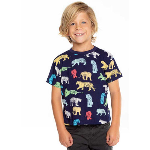 Chaser Tigers Gauzy Cotton Boys Tee