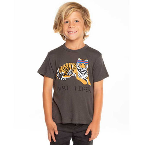 Chaser Part Tiger Gauzy Cotton Boys Tee