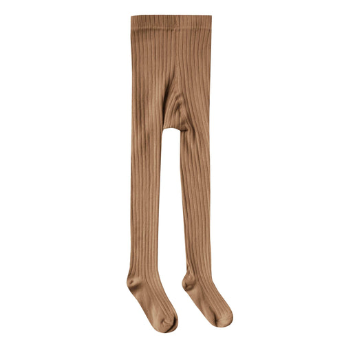 Rylee and cru brown ribbed girls tights