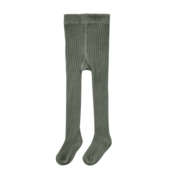 Rylee and Cru Forest Rib Knit Girls Tights