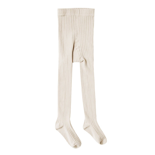 Rylee and cru ivory ribbed girls tights